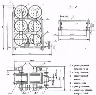 Регенератор воздуха РУ