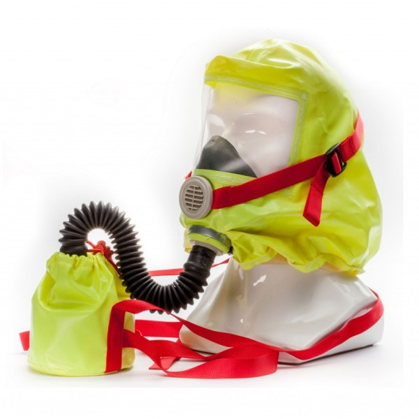 Газодымозащитный капюшон самоспасатель школьный ГДЗК Ш комплект