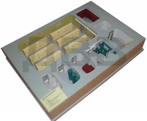 Макет «Встроенное убежище» для кабинета ОБЖ и НВП