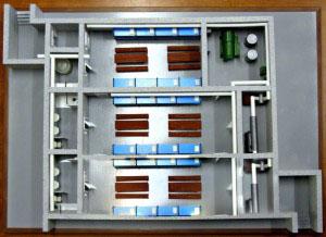 Макет Убежище (встроенное убежище) в разрезе. тип 017