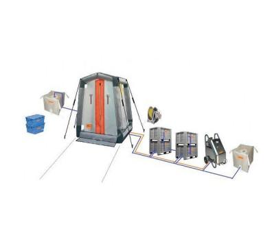 Дегазационно душевая кабина с комплектом нагрева и подготовки растворов